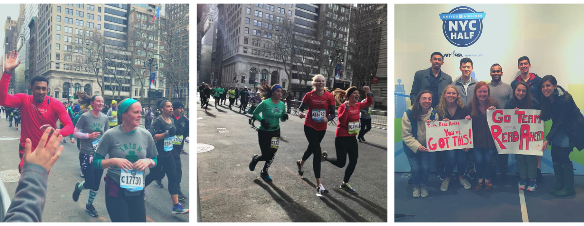 Team Read Ahead for the 2020 United Airlines NYC Half Marathon